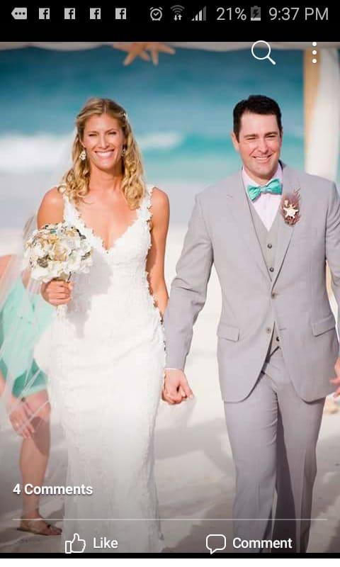 Megan Wallen. American Volleyball Olympic Champion H&M Harbour Island destination wedding!
