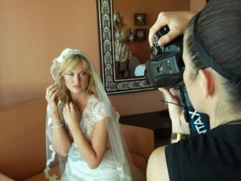 Famous model Amy Lemmons destination wedding hair & makeup!